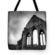 Valle Crucis Abbey Tote Bag by Dave Bowman