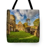 Valle Crucis Abbey Ruins Tote Bag by Adrian Evans