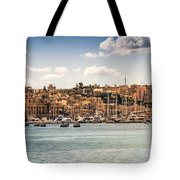 Port Of Valleta Tote Bag by Maria Coulson