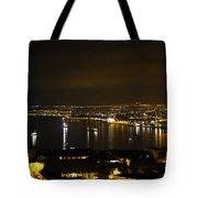 Valparaiso Harbor At Night Tote Bag by Kurt Van Wagner