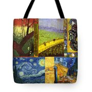 Van Gogh Collage Tote Bag by Philip Ralley