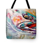 Vanishing Native - Steelhead Trout Flyfishing Art Tote Bag by Savlen Art