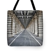 Vanishing Point Tote Bag by Delphimages Photo Creations