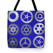 Various Vector Gears Tote Bag by Michal Boubin