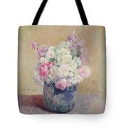 Vase Of Flowers Tote Bag by Henri Lebasque