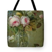 Vase Of Flowers On A Table Tote Bag by Michel Bellange
