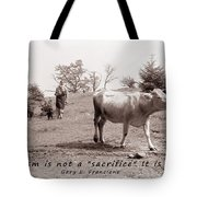 Veganism Is A Joy Tote Bag by Janice Rae Pariza