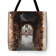 Venetian Courtyard 01 Elena Yakubovich Tote Bag by Elena Yakubovich
