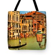 Venice Street Lamp Tote Bag by Mick Burkey
