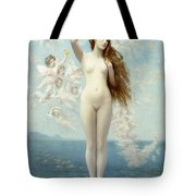 Venus Rising The Star Tote Bag by Jean Leon Gerome