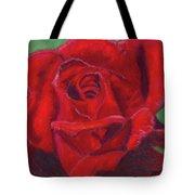 Very Red Rose Tote Bag by Arlene Crafton