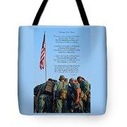 Veterans Remember Tote Bag by Carolyn Marshall