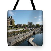 Victoria Harbour With Empress Hotel Tote Bag by Carol Groenen
