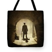 Victorian Man Standing Beneath An Arch Tote Bag by Lee Avison