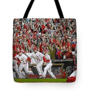 Victory - St Louis Cardinals Win The World Series Title - Friday Oct 28th 2011 Tote Bag by Dan Haraga