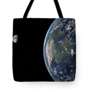 View Of North America With Rise In Sea Tote Bag by Walter Myers