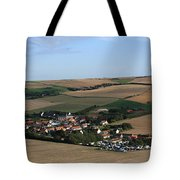Village In A French Landscape  Tote Bag by Aidan Moran