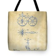 Vintage 1866 Velocipede Bicycle Patent Artwork Tote Bag by Nikki Marie Smith