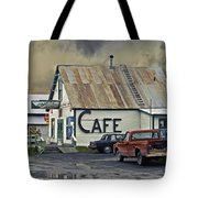 Vintage Alaska Cafe Tote Bag by Ron Day