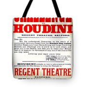 Vintage Challenge Houdini Poster Tote Bag by Wingsdomain Art and Photography