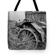 Vintage Farm Tractor Tote Bag by Theresa Tahara