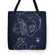 Vintage Football Helment Patent Drawing from 1935 Tote Bag by Aged Pixel