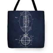 Vintage Football Patent Drawing from 1923 Tote Bag by Aged Pixel