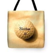 Vintage Golf Ball Tote Bag by Anita Lewis