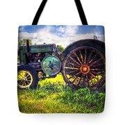Vintage John Deere Tote Bag by Debra and Dave Vanderlaan