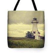 Vintage Lighthouse Pei Tote Bag by Edward Fielding