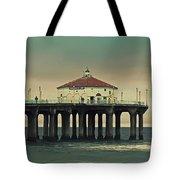 Vintage Manhattan Beach Pier Tote Bag by Kim Hojnacki
