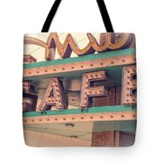 Vintage Neon Cafe Sign Livingston Montana Tote Bag by Edward Fielding