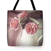 Vintage Pink Tote Bag by Amy Weiss