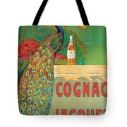 Vintage Poster Advertising Cognac Tote Bag by Camille Bouchet