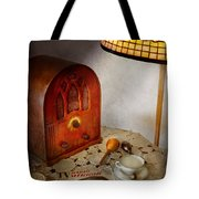 Vintage - What's On The Radio Tonight Tote Bag by Mike Savad