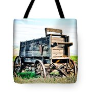 Vintaged Covered Wagon Tote Bag by Athena Mckinzie