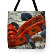 Violin Scroll Up Close Tote Bag by Paul Ward