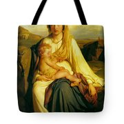 Virgin And Child Tote Bag by Paul  Delaroche