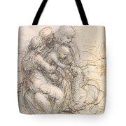 Virgin And Child With St. Anne Tote Bag by Leonardo da Vinci