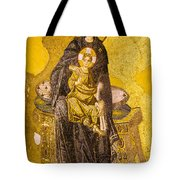 Virgin Mary With Baby Jesus Mosaic Tote Bag by Artur Bogacki