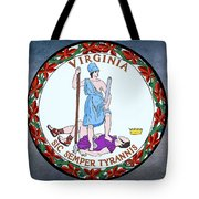 Virginia State Seal Tote Bag by Movie Poster Prints