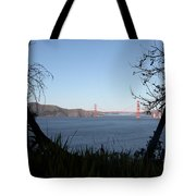 Vista To The San Francisco Golden Gate Bridge - 5d20983 Tote Bag by Wingsdomain Art and Photography