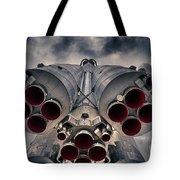 Vostok Rocket Engine Tote Bag by Stelios Kleanthous