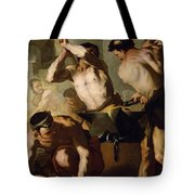 Vulcans Forge Tote Bag by Luca Giordano
