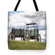 Wagon On A Hill Tote Bag by Eric Gendron