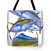 Wahoo Tuna Dolphin Tote Bag by Carey Chen