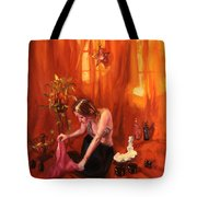 Waiting For My Husband Tote Bag by Shelley Irish