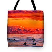 Waiting For The Next Set Tote Bag by Michael Pickett