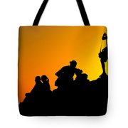 Waiting For The Sun Tote Bag by Hannes Cmarits