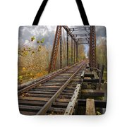 Waiting For The Train Tote Bag by Debra and Dave Vanderlaan